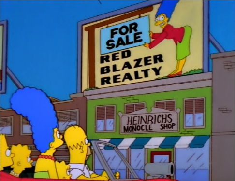 The Simpsons - Red Blazer Realty